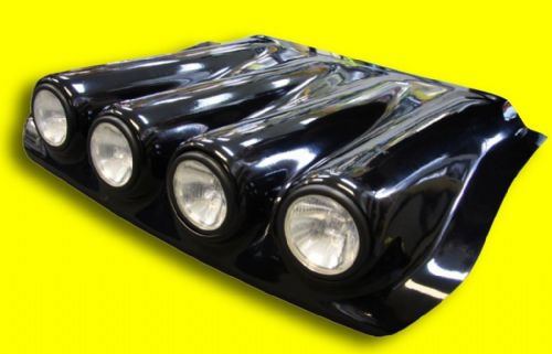 Defender Puma - Bonnet Pod - Black - Complete with 4 x 55 watt spot lights